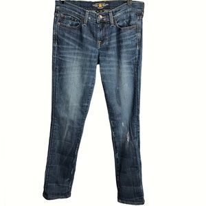 Lucky Brand Sweet N Straight Distressed Jeans 0/25